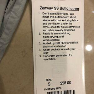 lululemon athletica Shirts - NWT Lululemon Zenway SS Button Down $98-Size S